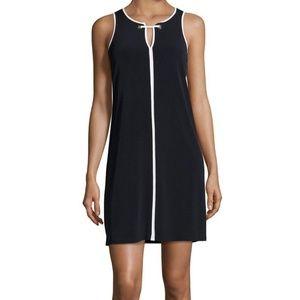 NWT Ivanka Trump Black Sleeveless Mini Shift Dress